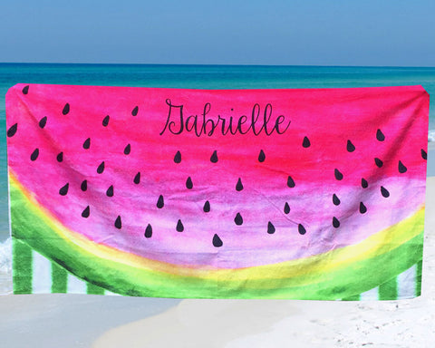 Watermelon Beach Towel Personalized with Name