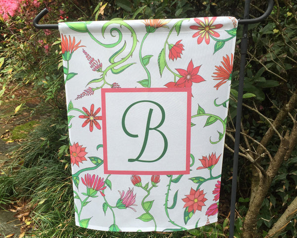 Garden Flag Personalized with Monogram Initial