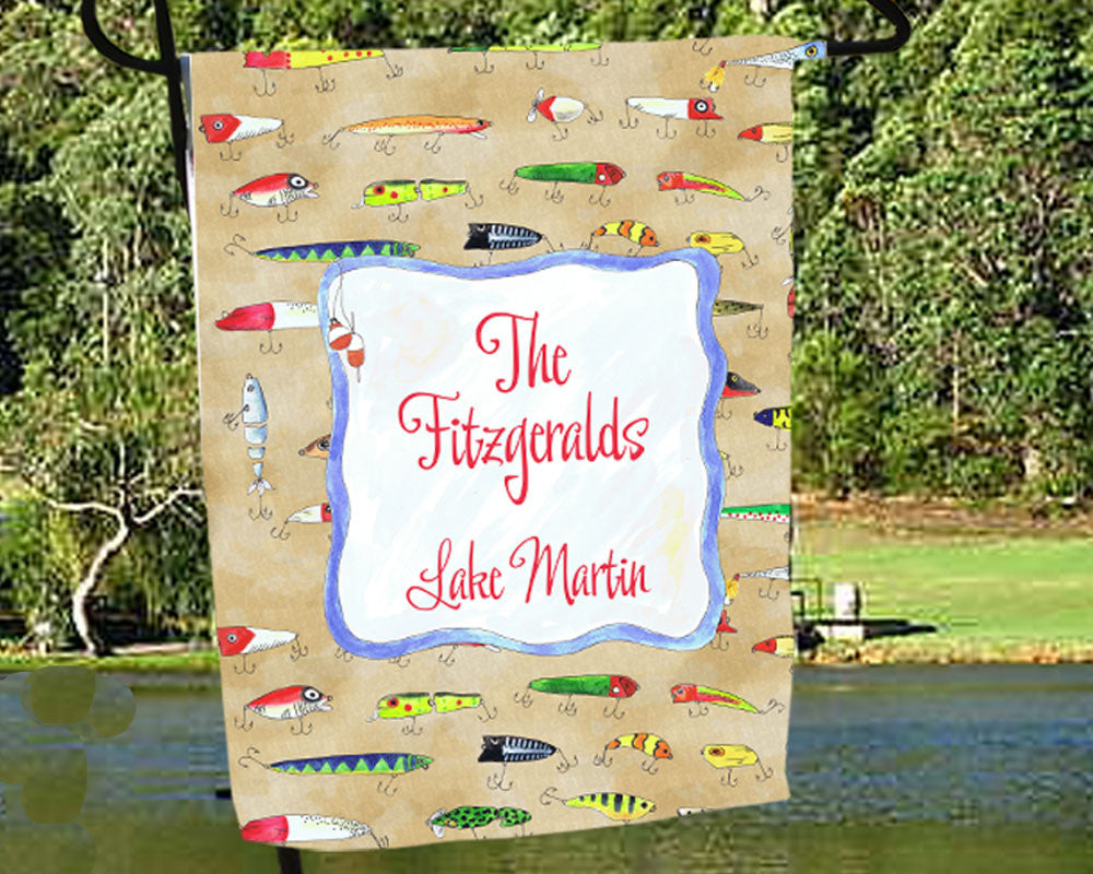 Personalized Lake House Flag with Name