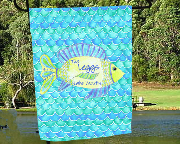 Personalized Lake House Flag