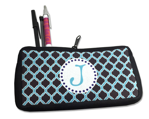 Personalized Pencil Bag with Single Monogram Initial