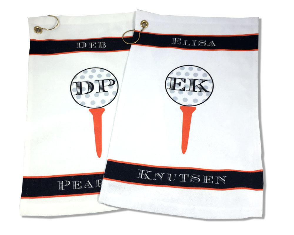 Personalized Golf Towel with Monogram and Name