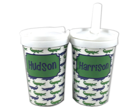 Toddler Sippy Cup with Straw Personalized with Name