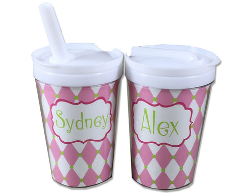 Personalized Toddler Sippy Cup with Straw