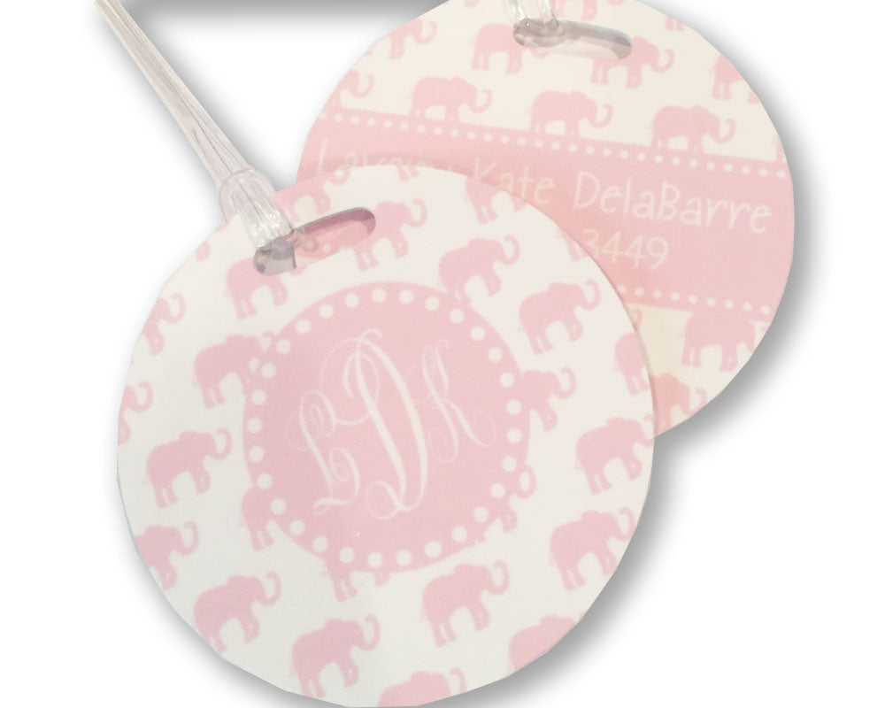 Baby Girl Diaper Bag Tag Monogrammed