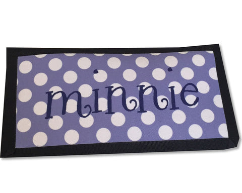 Polka Dot Personalized Checkbook Cover with Name