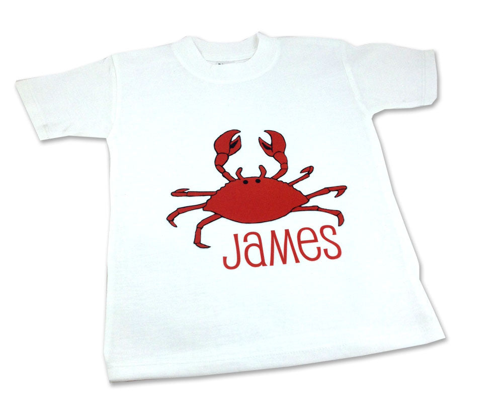 Toddler Shirt Personalized Crab Tee Shirt with Name
