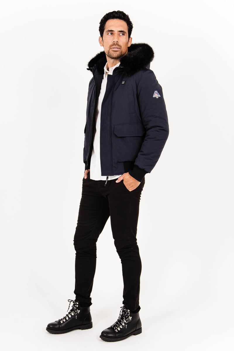 Aster - Navy and Black