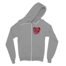 Load image into Gallery viewer, Pink rose Classic Adult Zip Hoodie