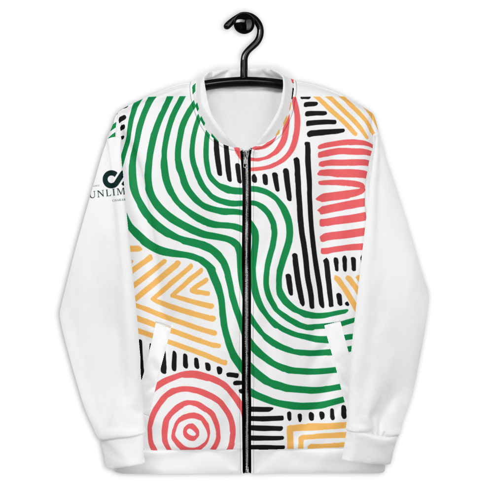 All-Over Print Unisex Bomber Jacket - Zim collection