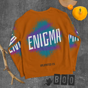 Unisex Sweatshirt - Enigma- Brown