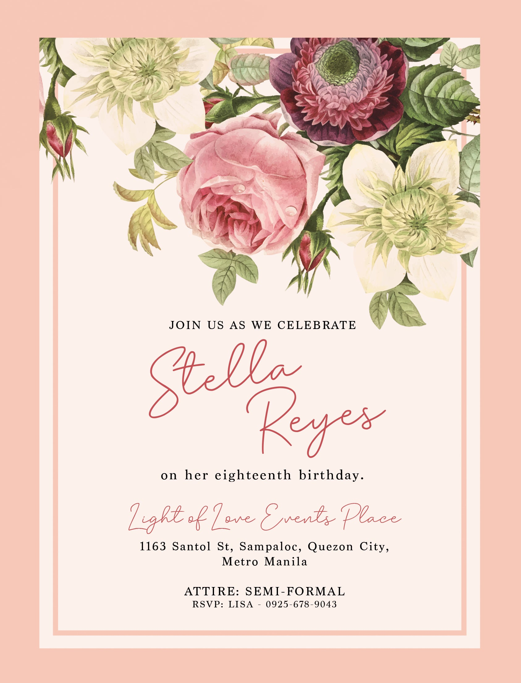 Stella Debut Invitation