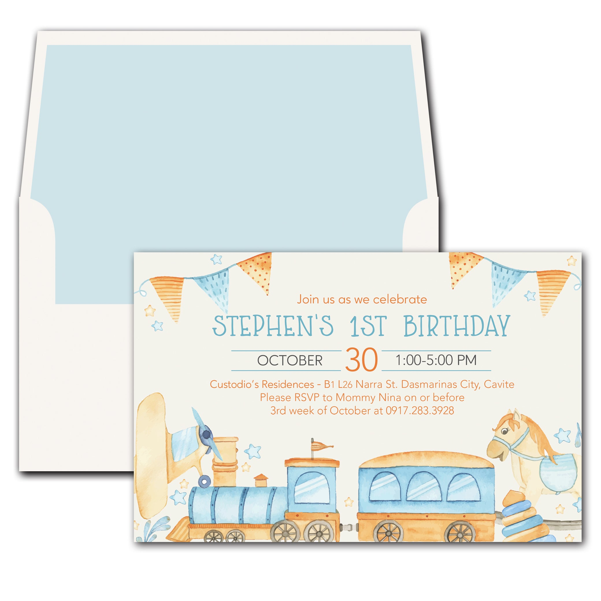Toys Birthday Invitation