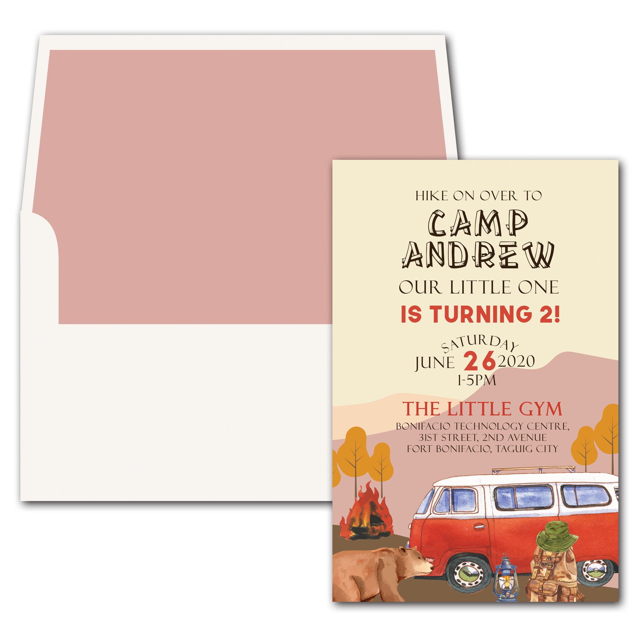 Camp Birthday Invitation
