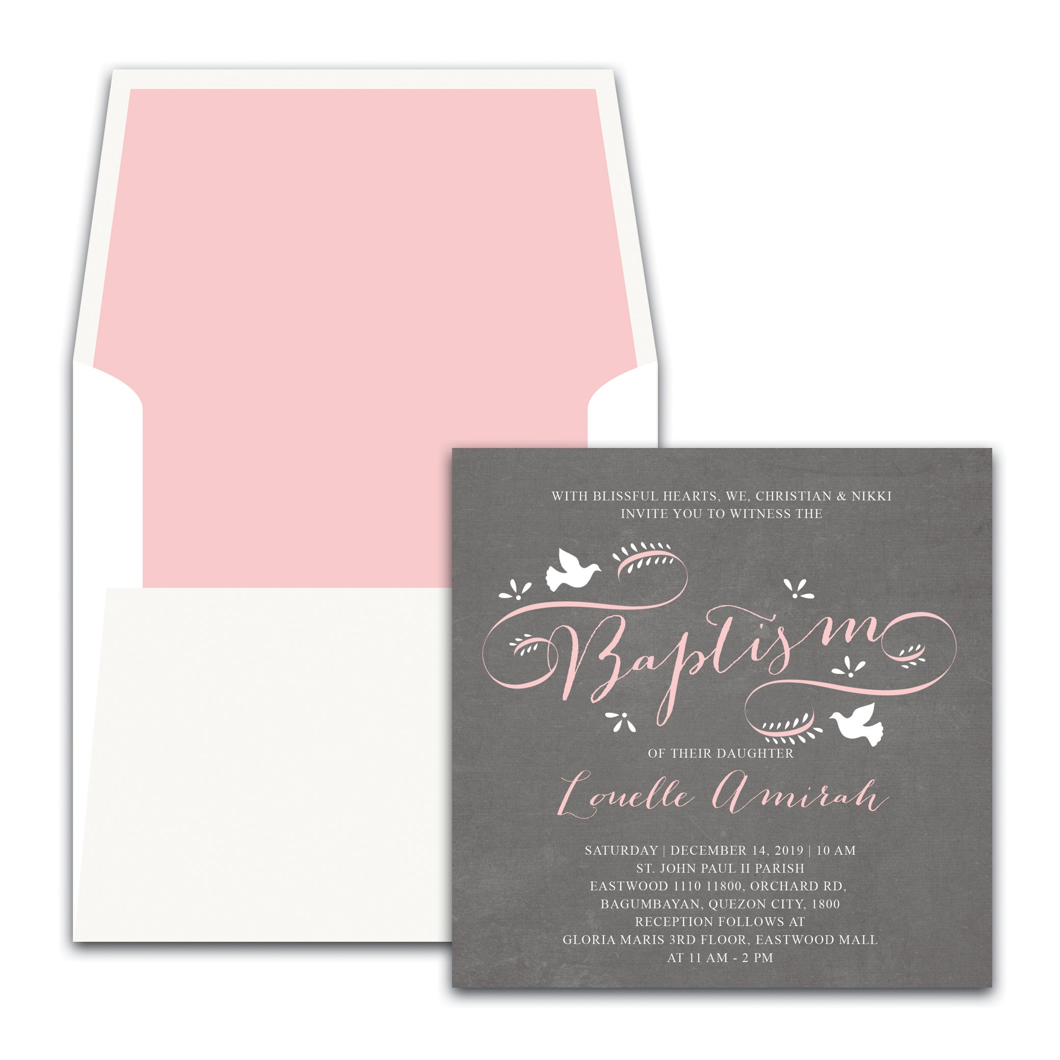 Louelle Christening Invitation