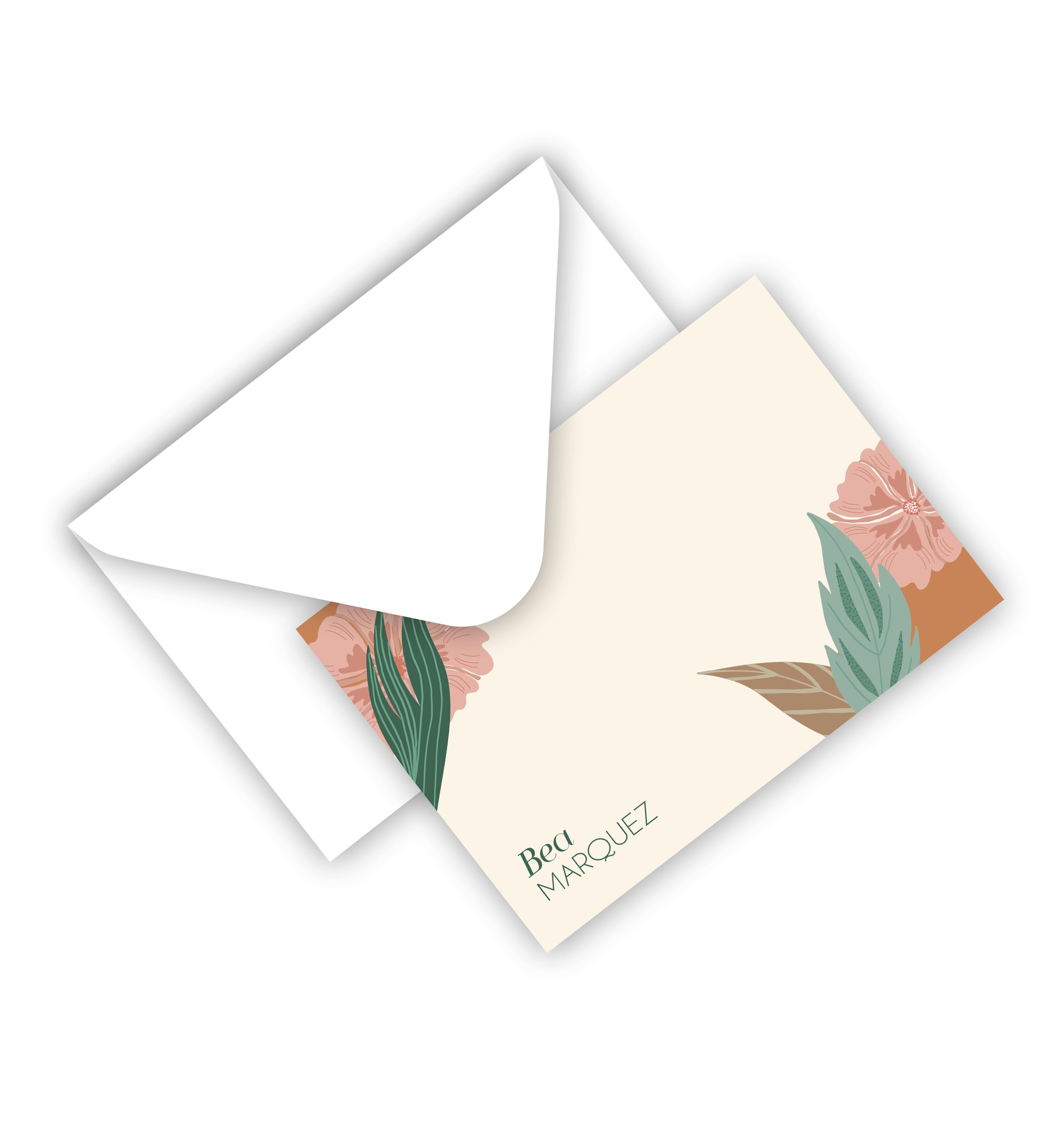 Flat Card With Envelope 123