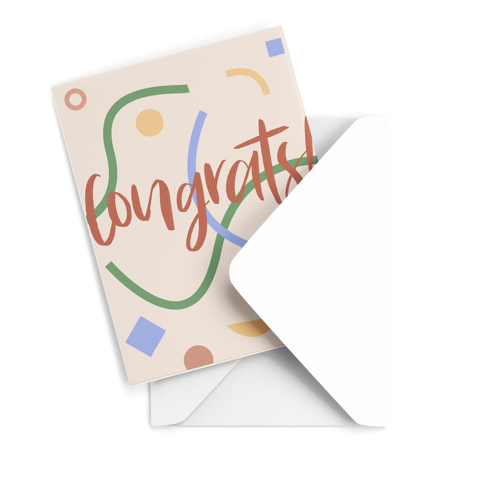 Congrats Abstract Greeting Card