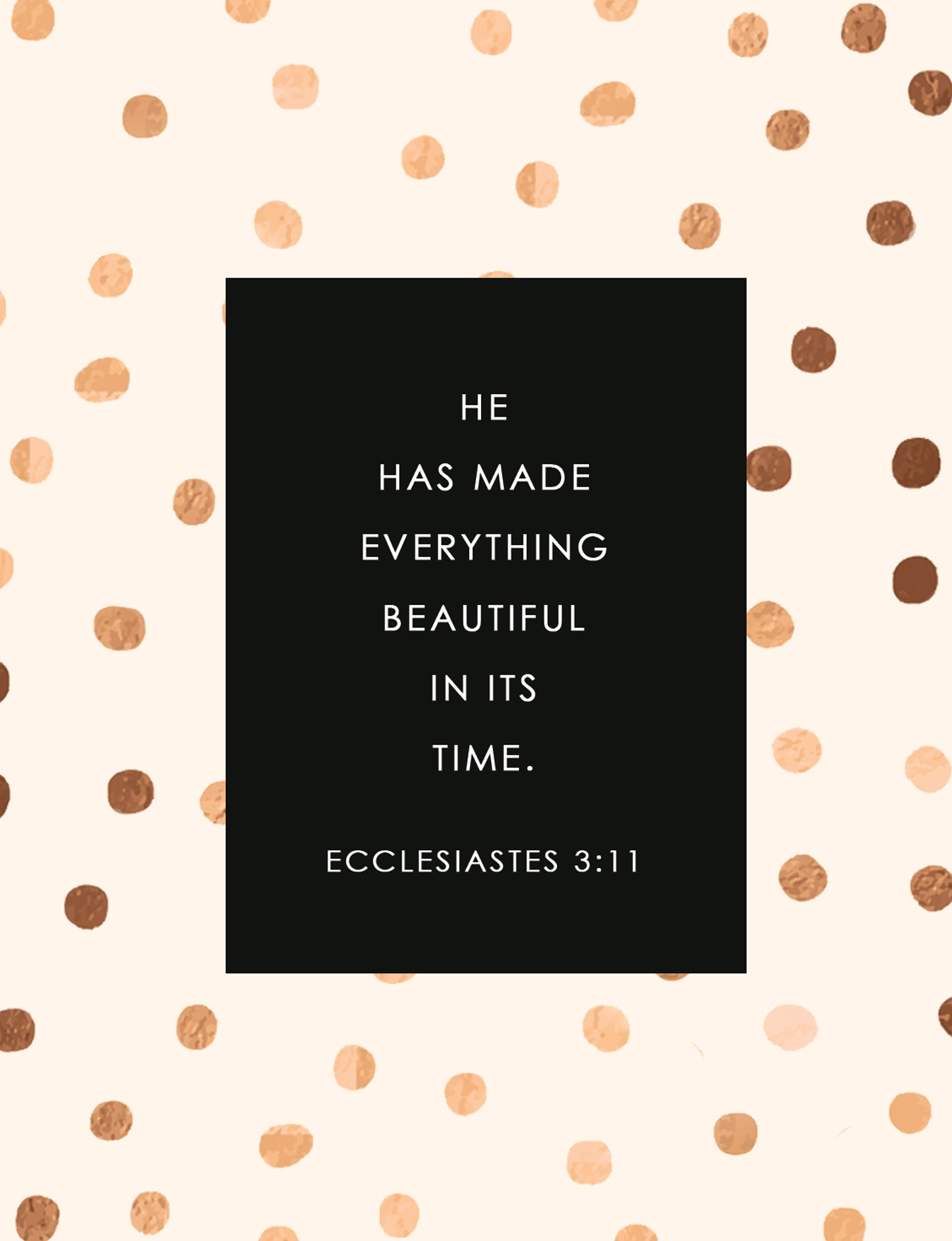 Ecclesiastes 3:11 Faith Card