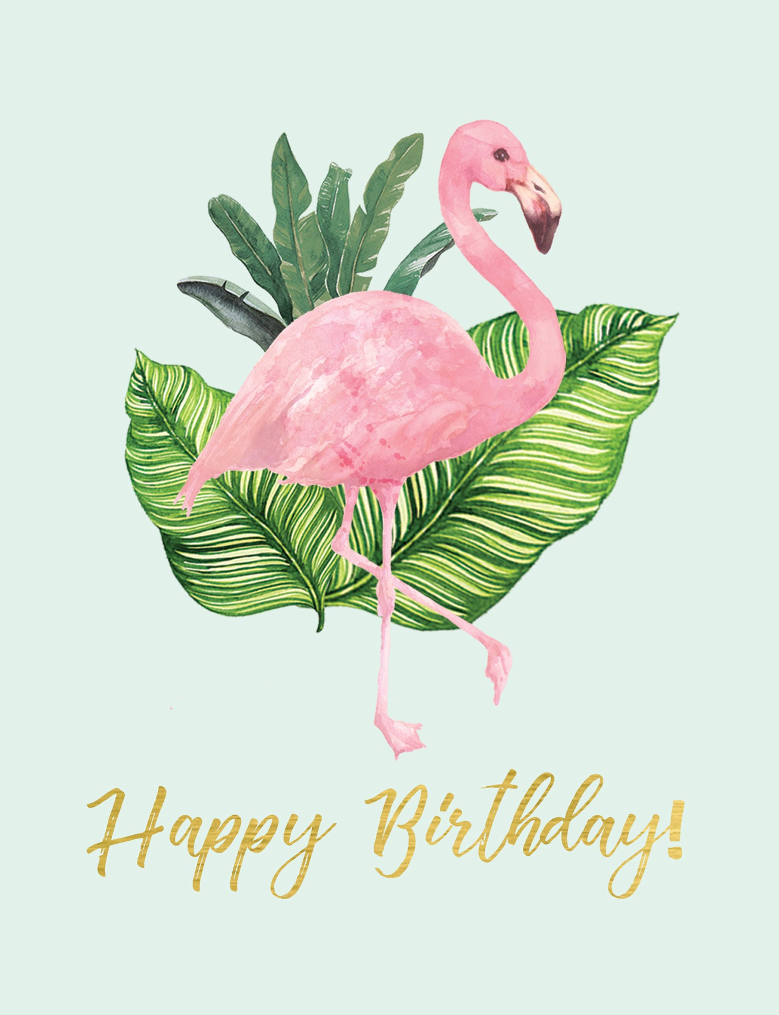 Birthday Flamingo Greeting Card