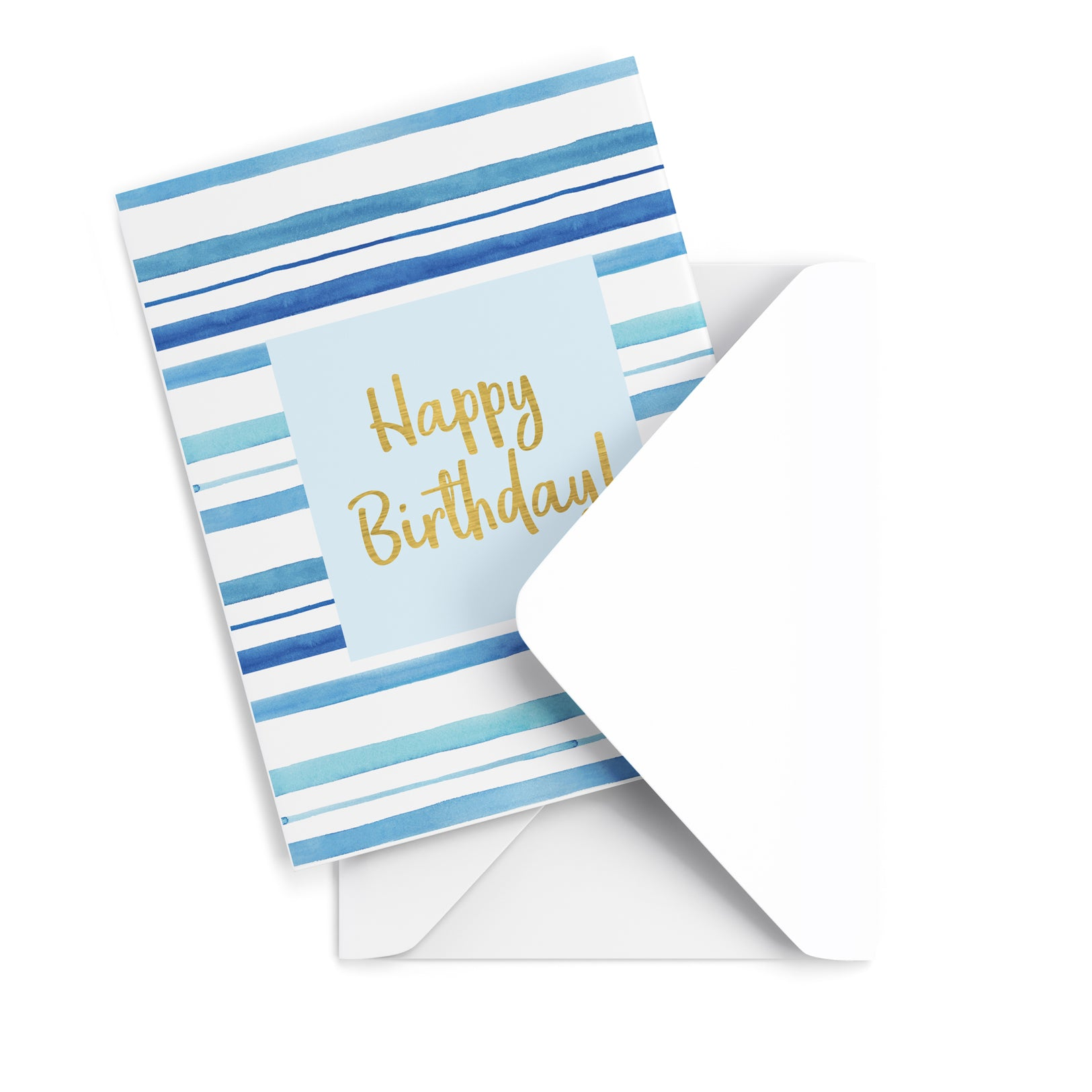 Blue Birthday Greeting Card