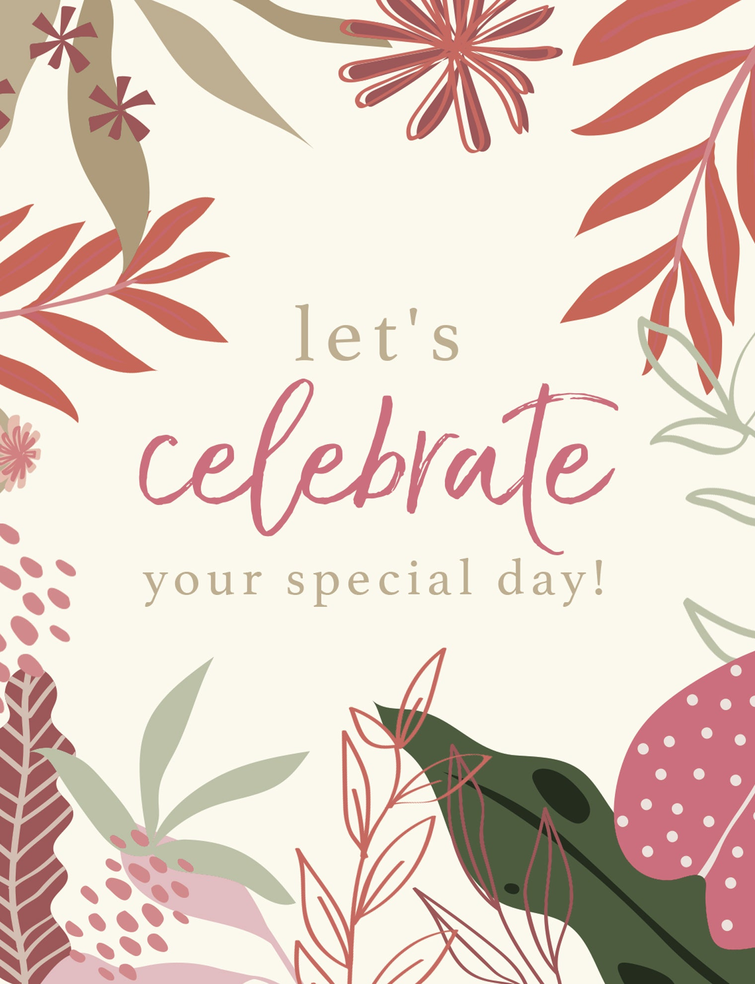 Special Day Greeting Card