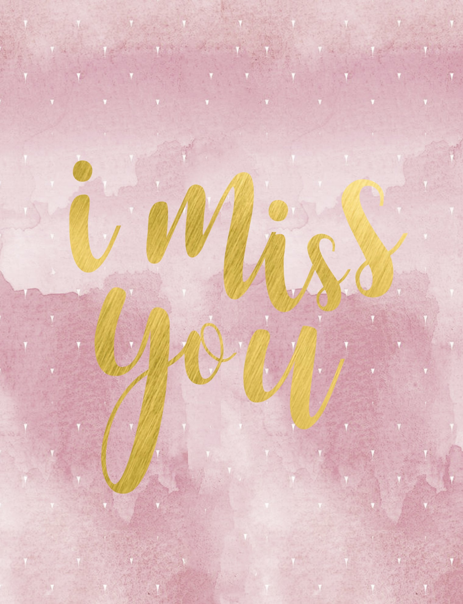 Pink I Miss You Greeting Card