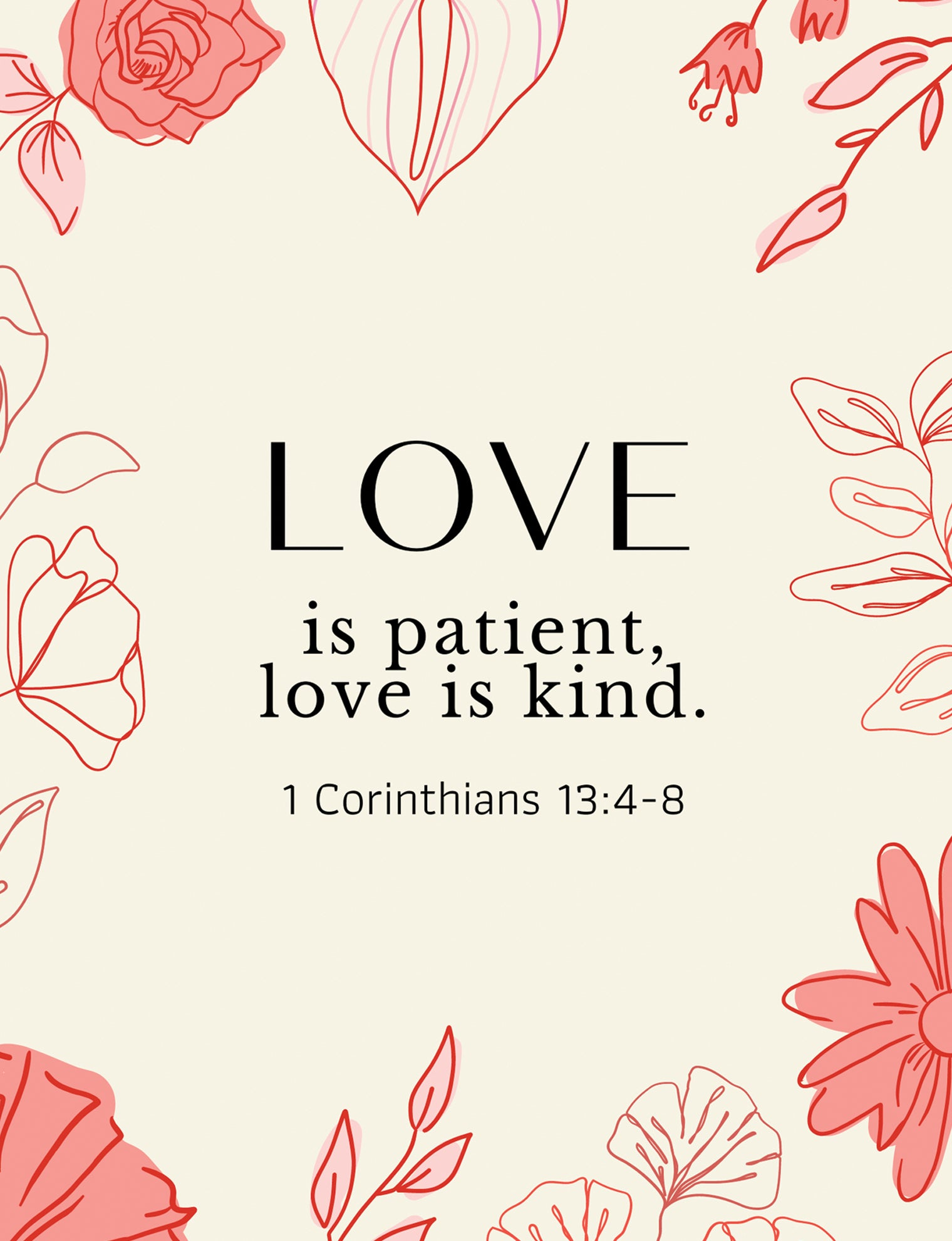 Love is Patient Greeting Card