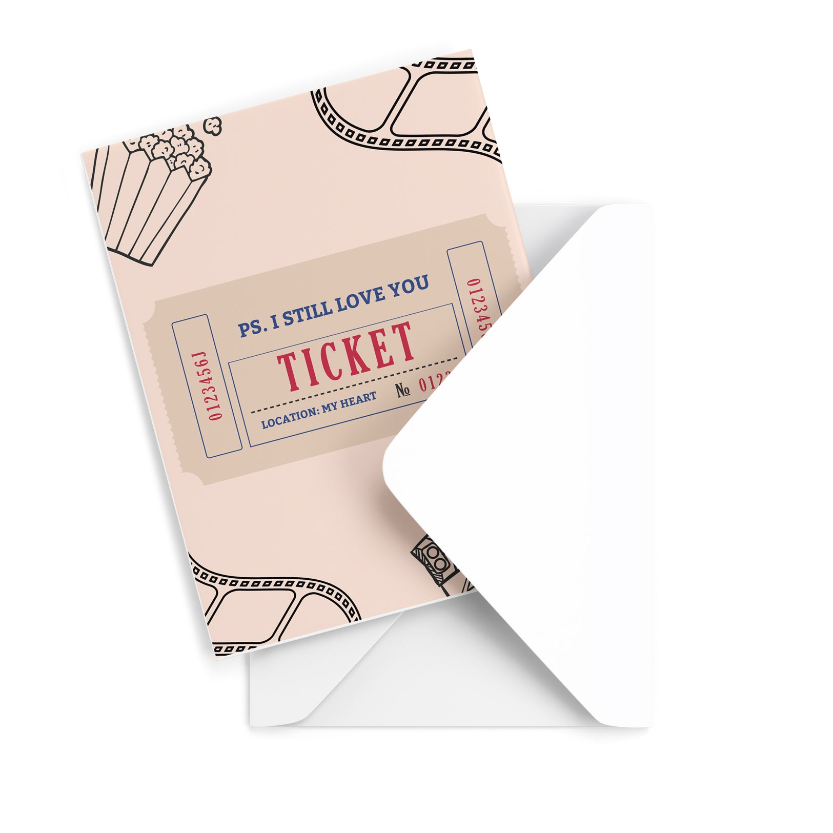 Love Ticket Greeting Card