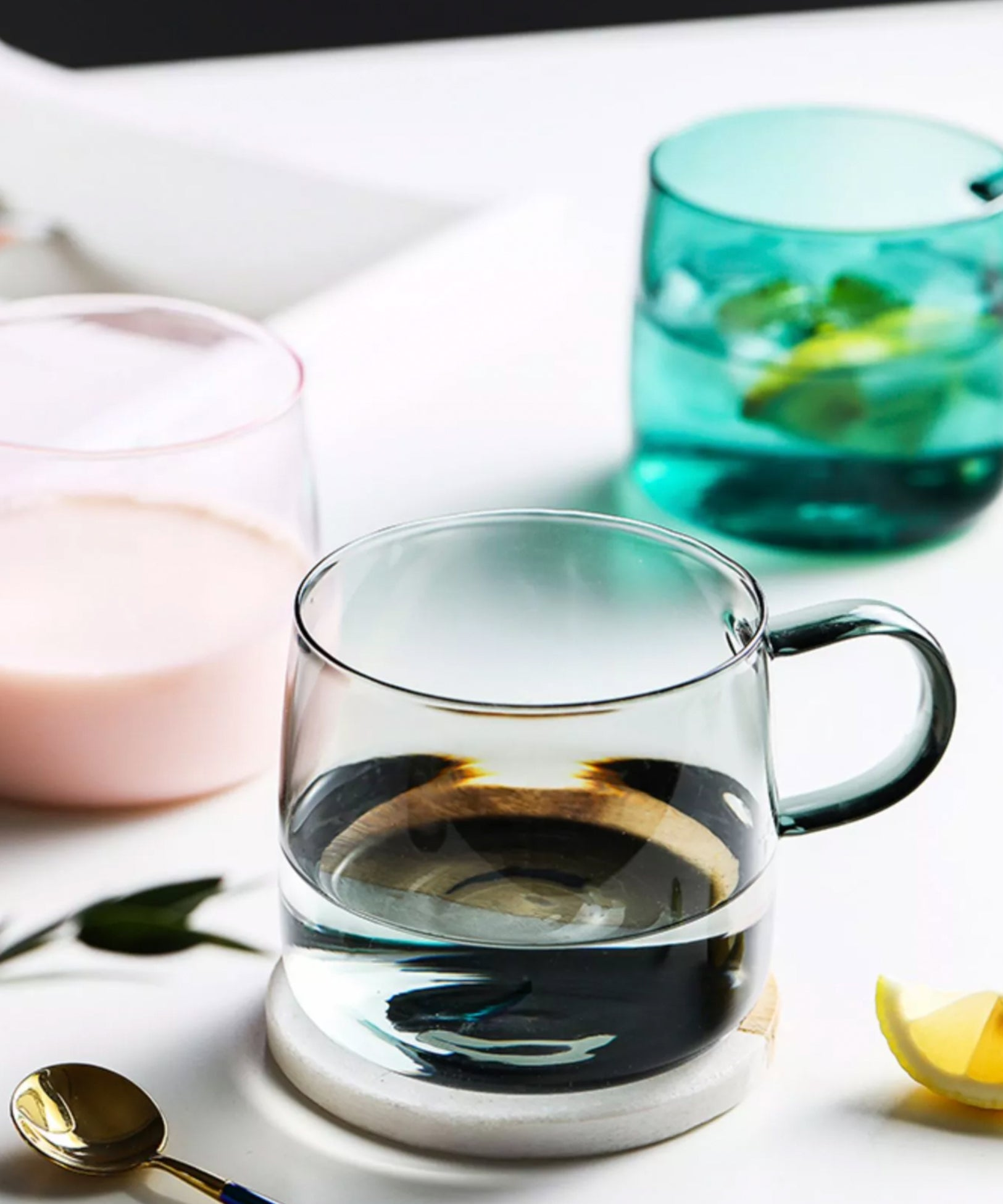 Opal Colored Glass Mug