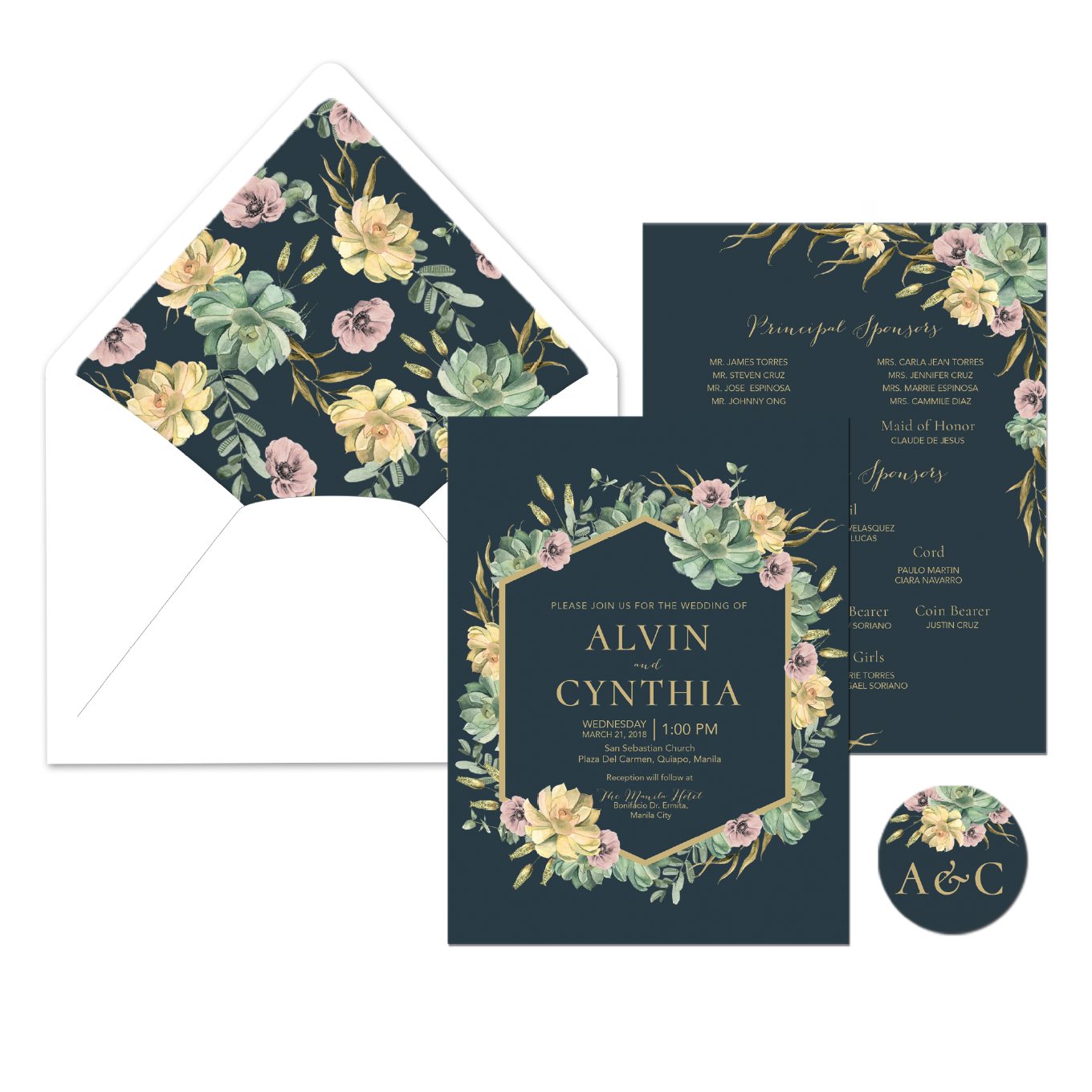 Crysanthemum Wedding Invitation