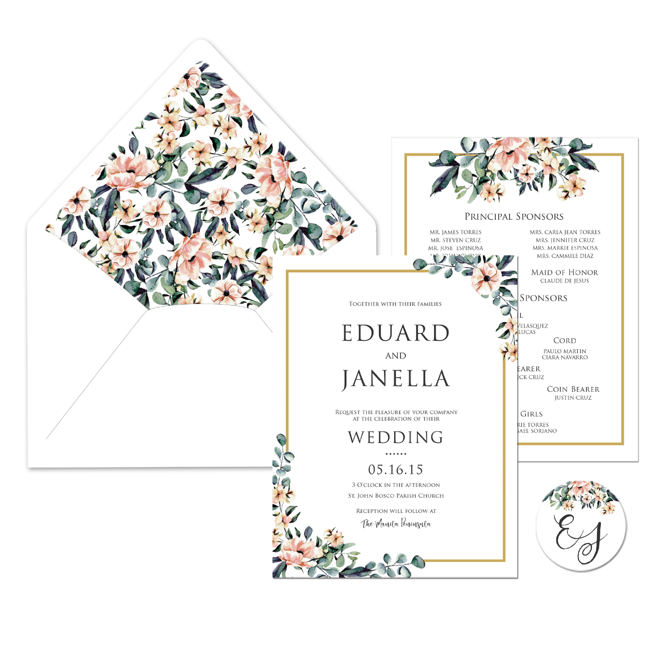 Dahlia Wedding Invitation