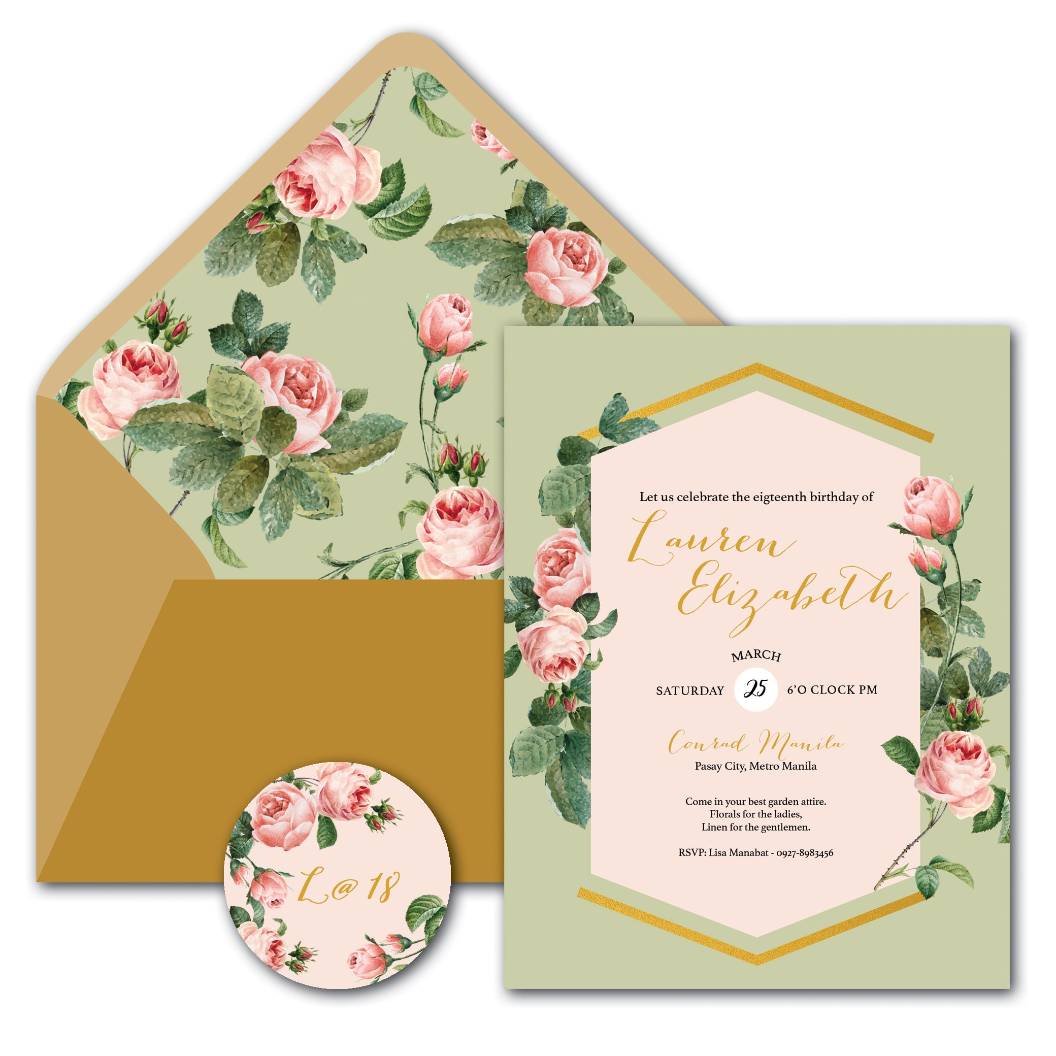 Lauren Debut Invitation