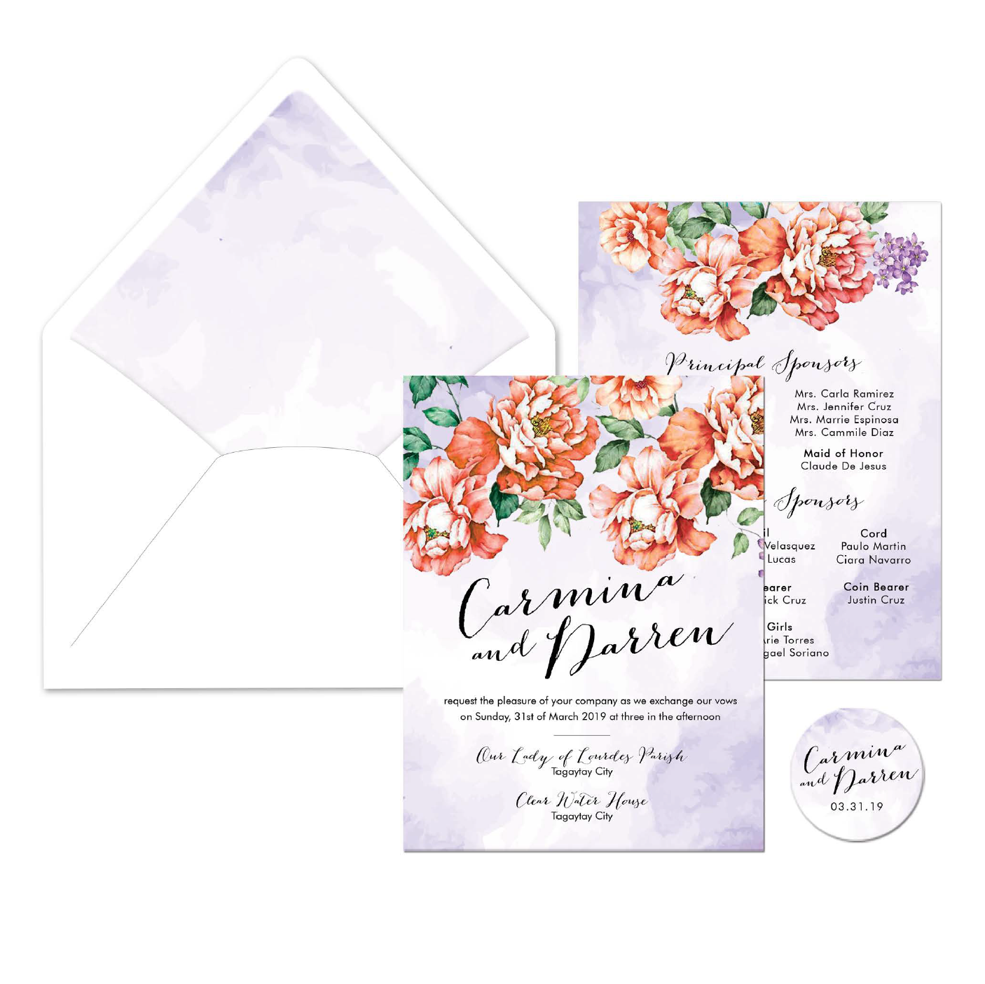 Indigo Wedding Invitation