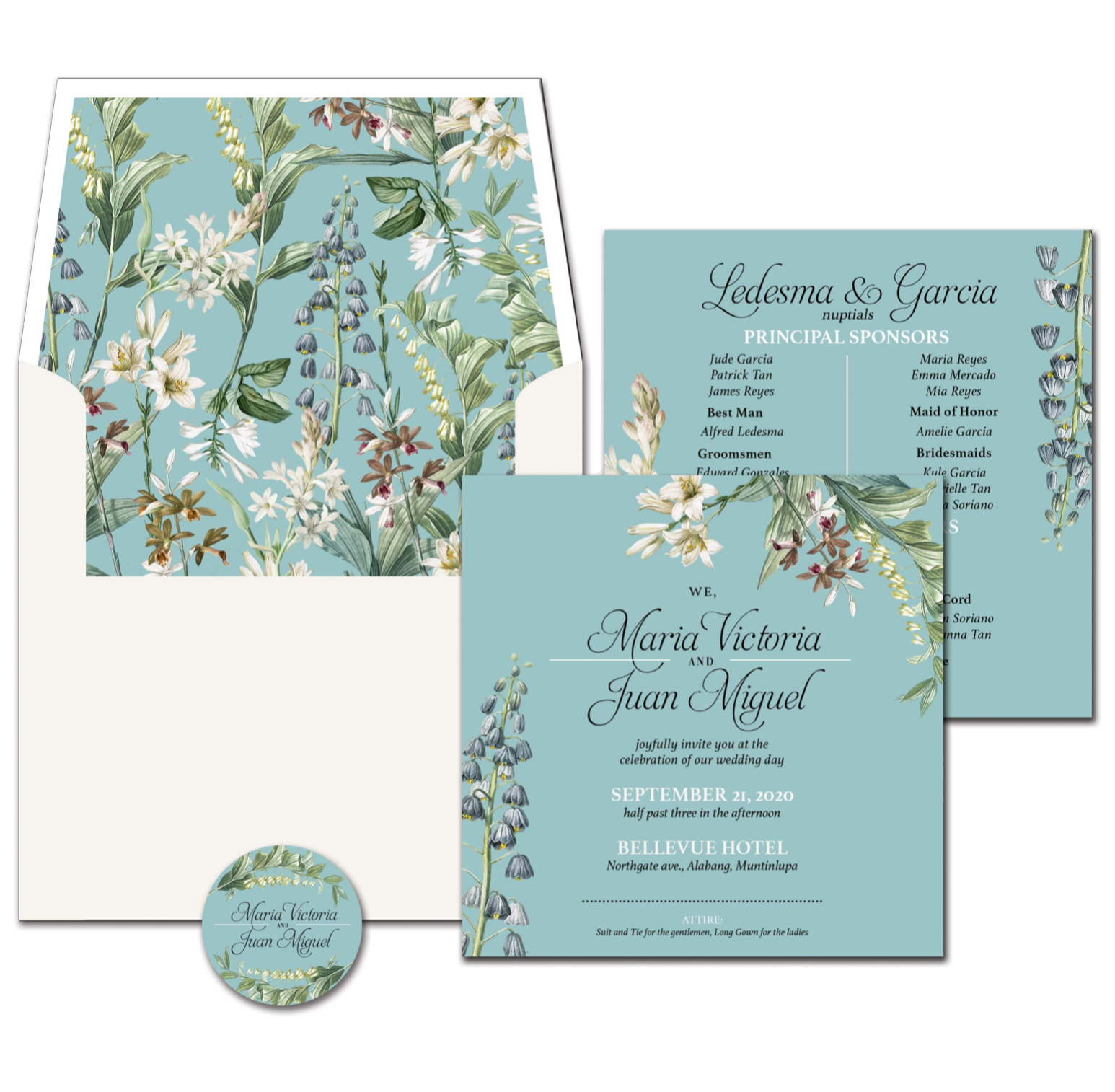 Bluebell Wedding Invitation