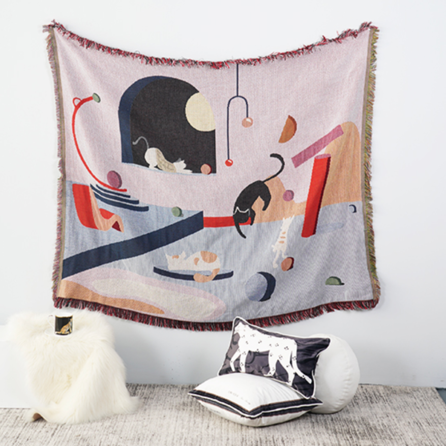 Feline Throw Blanket