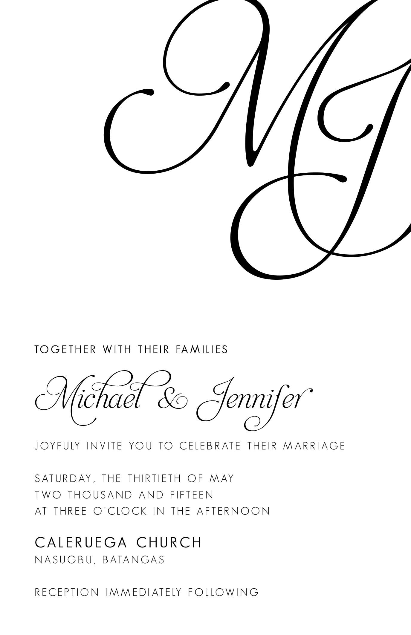 Brier Wedding Invitation