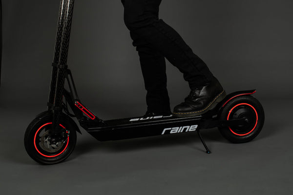 Person with Raine electric scooter