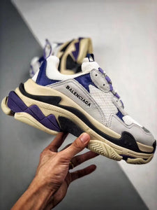 Triple S - White Purple Black