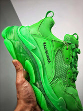 Load image into Gallery viewer, Triple S -  Green Clear Sole