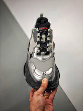 Load image into Gallery viewer, Triple S -  Black Silver Clear Sole