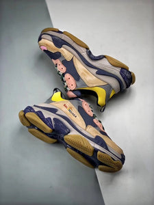 Triple S - Pink Grey Yellow Blue
