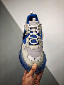 Triple S - White Blue Clear Sole