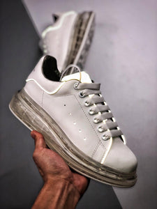 Oversized Sneaker - White Clear Sole