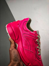 Load image into Gallery viewer, Rhyton logo leather sneaker -  Pink