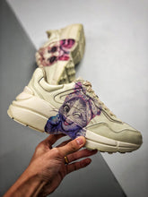 Load image into Gallery viewer, Rhyton logo leather sneaker -  Purple Bunny