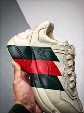 Load image into Gallery viewer, Rhyton logo leather sneaker - Stripes