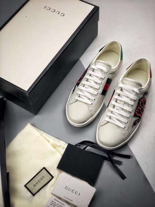 Bea Snake White leather trainers - White