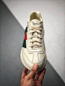 Rhyton logo leather sneaker - Stripes