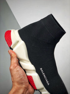 Speed Sock Mid-Top Sneakers - Black White Red