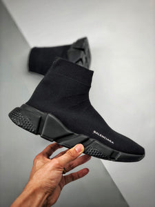 Speed Sock Mid-Top Sneakers - All Black